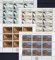 CEPT 1977 JUGOSLAVIJA 1379/0+1857/8 Kleinbogen ** 27€ Landschaft KSCE Madrid Taube Bloc Ss Bird Sheetlets Bf EUROPA - Blocs-feuillets