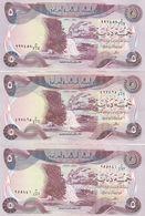 IRAQ 5 DINARS 1980 1981 1982 P-70 LOT X3 AU/UNC NOTES DIFFERENT DATES */* - Iraq