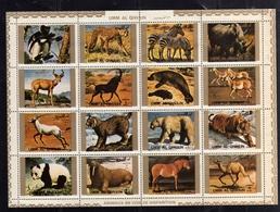 EMIRATI ARABI UNITI UNITED ARAB EMIRATES 1973 UMM AL QIWAIN WILD AFRICAN ANIMALS FAUNA ANIMALI SHEET FOGLIETTO MNH - Umm Al-Qiwain