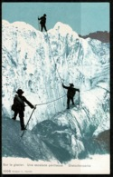 Ref 1240 - Early Postcard - Mountaineering Climbing - Winter Sports Switzerland - Climbing