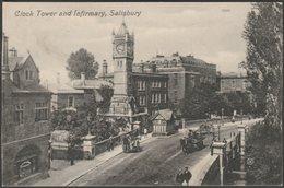 Clock Tower And Infirmary, Salisbury, Wiltshire, 1911 - Valentine's Postcard - Salisbury