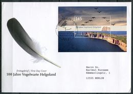 """Germany 2010 Big First Day Cover MiNr.2792,Block 77""""100 Jahre Vogelwarte Helgoland""""1 Big Letter Cover - [7] Federal Republic"""