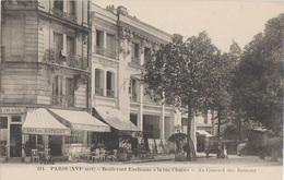CPA 75 PARIS XVI Quartier Auteuil Point Du Jour Boulevard Exelmans à La Rue Chapes Spectacles Au Concert Des Bateaux - Arrondissement: 16
