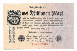 Billet De Zwei Millionen Mark 1923 - [ 3] 1918-1933 : Repubblica  Di Weimar