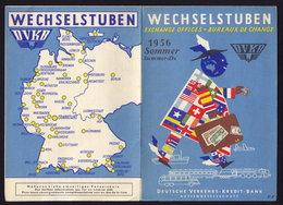 GERMAN RAILWAY RAILROAD TIMETABLE FOLDER BROCHURE 1956 (see Sales Conditions) - Europe