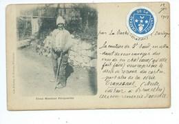 Vieux Mendiant Périgourdin Ecusson CHATEAU DE VALOUZE PRES LA ROCHE CHALAIS - Autres Communes