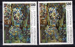 France 2493 Variétés Fond Vert Et Fond Vert Brun Tableay De Bryen  Neuf ** TB MNH Sin Charnela - Varietà: 1980-89 Nuovi