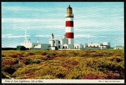 Ref 1241 - John Hinde Postcard - Point Of Ayre Lighthouse & Radio Station - Isle Of Man - Lighthouses
