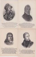 Bn - Lot De 12 Cpa Des Royalistes Des Guerres De Vendée (Cathelineau, Tinténiac, Puisaye, Rochejaquelein, Lebeschu, Bonc - Personnages