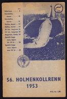 (6 Scans) NORWAY NORGE - HOLMENKOLLRENN - Ski Festival - Publicité Pubblicità BROCHURE 1953 (see Sales Conditions) - Wintersport