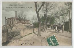 84 Vaucluse - Sérignan Route De Sainte Cécile Et La Filature Cheminée D'usine 1908 - Autres Communes