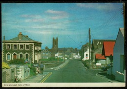 Ref 1241 - 1972 Postcard - Kirk Michael - Isle Of Man - Conference Slogan - Isle Of Man