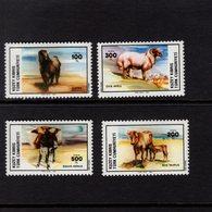 671396527 TURKISH CYPRUS 1985 POSTFRIS MINT NEVER HINGED POSTFRISCH EINWANDFREI SCOTT 162 165 DOMESTIC ANIMALS - Chypre (Turquie)