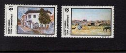 671397799 TURKISH CYPRUS 1984 POSTFRIS MINT NEVER HINGED POSTFRISCH EINWANDFREI SCOTT 151 152 PAINTINGS - Chypre (Turquie)