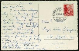Ref 1242 - 1949 Photo Postcard - Fluelen Mit Bristenstock Switzerland 25c SG 492 To Dublin - UR Uri