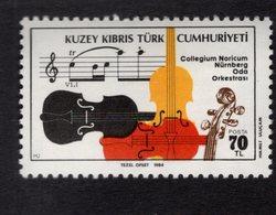 671398717 TURKISH CYPRUS 1984 POSTFRIS MINT NEVER HINGED POSTFRISCH EINWANDFREI SCOTT 159 NUREMBURG CHAMBER ORCHESTRA - Chypre (Turquie)