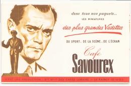 "Buvard "" Café Savourex "" (  Pliure, 20 X 13,5 Cm ) - Café & Thé"
