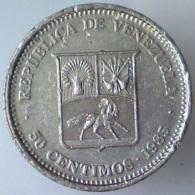 REPUBBLICA DEL VENEZUELA 50 Centimos  1985      BB - Venezuela