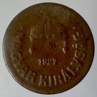 REGNO D'UNGHERIA 2 Filler  1927 BP     MB QBB - Ungheria