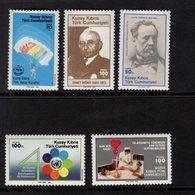 671401327 TURKISH CYPRUS 1985 POSTFRIS MINT NEVER HINGED POSTFRISCH EINWANDFREI SCOTT 174 178 - Chypre (Turquie)