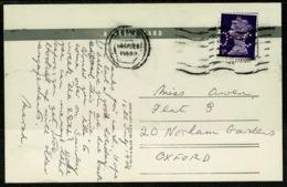 Ref 1242 - 1968 Postcard - Tarr Steps Exmoor Somerset - Perfin Stamp - Great Britain