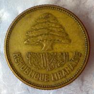 REPUBBLICA LIBANESE 25 Piastre  1952      BB+ - Liban