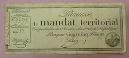 Promesse De Mandat Territorial - Bon Pour 25 Francs, Impression Noire, Série 13 Lafaurie N°200 - Assignats & Mandats Territoriaux
