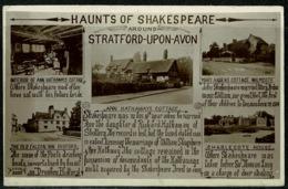 Ref 1242 - 1927 Real Photo Postcard - Haunts Of Shakespeare At Stratford-Upon-Avon Warwickshire - Stratford Upon Avon