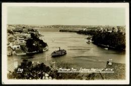 Ref 1242 - Real Photo Postcard - Ferry At Mosman Bay Sydney - New South Wales Australia - Sydney