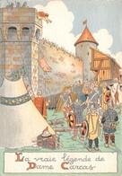Carcassonne - La Vraie Légende De Dame Carcas - Illustrateur Marcel Jeanjean - Barré & Dayez - BD N'1501 A - Carcassonne