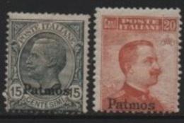 Egée-Aegean (PATMO) 1919-22 Italian Stamps/Timbres D'Italie (1917) Overprinted/Surchargés * - Aegean (Patmo)