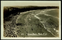 Ref 1242 - Real Photo Postcard - Ocean Beach Manly Sydney - New South Wales Australia - Sydney