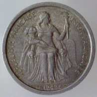 NUOVA CALEDONIA 1 Franc  1949      QSPL - Nuova Caledonia
