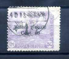 1919 FIUME N.94 USATO - 8. Occupazione 1a Guerra
