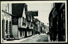 Ref 1242 - 1955 Postcard - George Hotel High Street Wallingford - Postage Due Marks Oxford - England