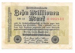 Billet De Zehn Millionen Mark 1923 - [ 3] 1918-1933: Weimarrepubliek