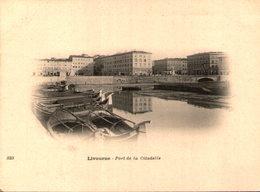 LIVOURNE - Port De La Citadelle - Cliché Tiré Du Tour Du Monde Du Navire Duguay-Trouin, Début 20e - Livorno
