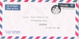 30569. Carta Aerea MSIDA (Malta) 1976. Fechador Transito VALLETTA - Malta