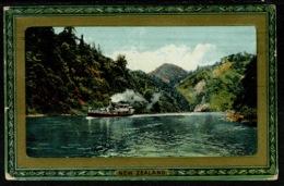 Ref 1242 - 1913 Raphael Tuck Postcard - Steamer On Wanganui River New Zealand UK Via Naples - New Zealand