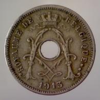 REGNO DEL BELGIO 5 Centimes Legenda Francese 1913      BB+ - 1909-1934: Alberto I