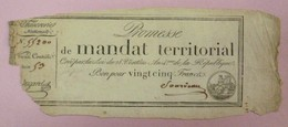 Promesse De Mandat Territorial - Bon Pour 25 Francs, Impression Noire, Série 53, Lafaurie N°200 - Assignats & Mandats Territoriaux