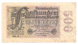 Billet De Fünfhundert Millionen Mark 1923 - [ 3] 1918-1933: Weimarrepubliek