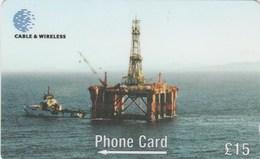 Falklands Is. - Oil Exploration Rig Borgny Dolphin - 269CFKA - Falkland Islands