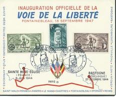 België   O.B.C   Privé  81 / 82    Voie De Le Liberté   Stempel  Fontainebleau - Belgique