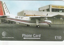 Falklands Is. - 50th Anniversary FIGAS - Britten-Norman Islander BN2A27 - 275CFKB - Falkland Islands