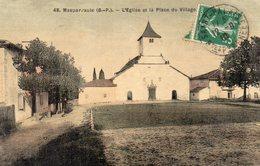 MASPARRAUTE - L'Eglise Et La Place Du Village - ? N°48 - Toilée, écrite 1910 - Tbe - Altri Comuni