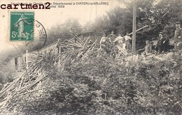 CHATEAU-LA-VALLIERES DERAILLEMENT CHEMIN DE FER DEPARTEMENTAL ACCIDENT TRAIN LOCOMOTIVE 37 - Francia