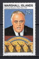 MARSHALL ISLANDS - 1990 History Of The Second World War - Four Freedoms Speech To U.S. Congress By President Fran   M484 - Marshall