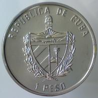 REPUBBLICA DI CUBA 1 Peso Caribbean Fauna - Dolfin 1994   Colored   FDC - Cuba