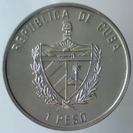 REPUBBLICA DI CUBA 1 Peso Caribbean Fauna - Sailfish 1994   Colored Small Water Splashes, Thin Nose  FDC - Cuba